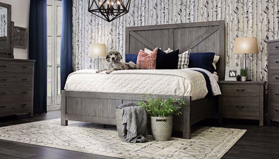 Picture of Dallas King Bed, Dresser, Mirror & Nightstand