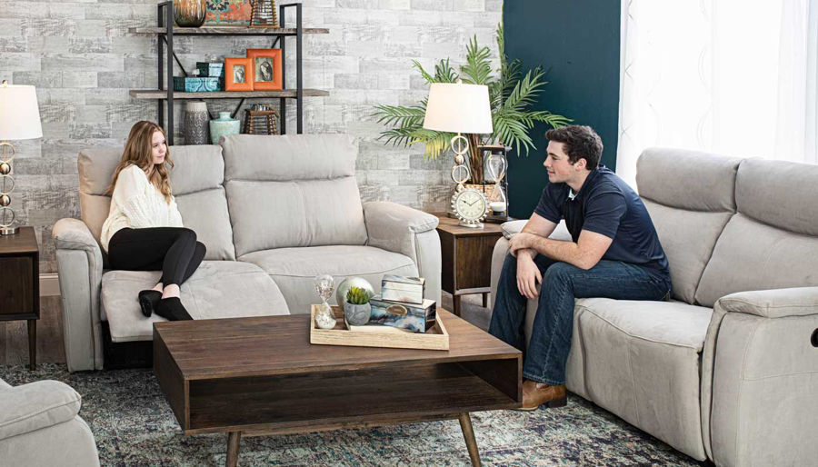 Picture of Aaron Light Grey Power Sofa & Loveseat
