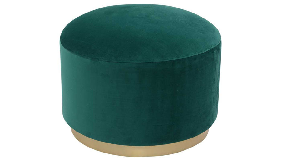Picture of Gia Teal Velvet Pouf