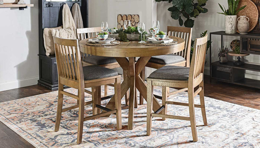 Picture of Market Round Counter Height Table & Chairs