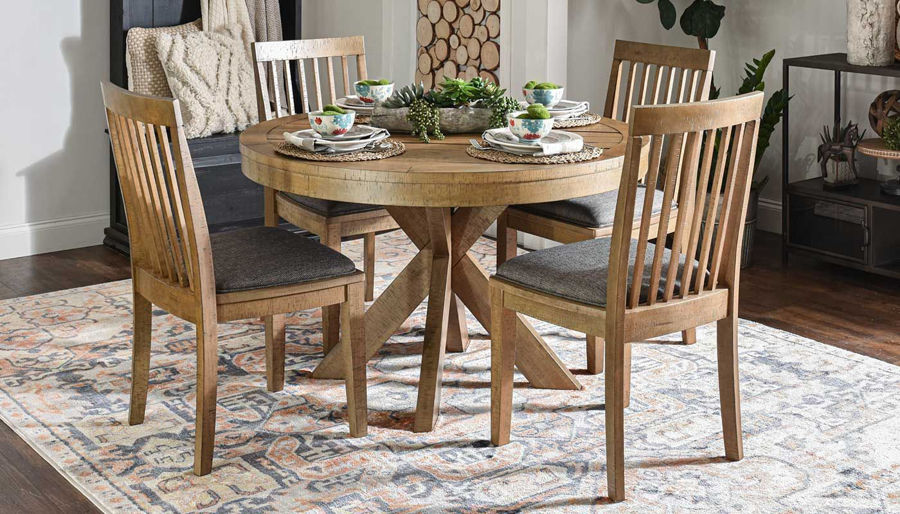 Picture of Market Round Dining Height Table & Chairs