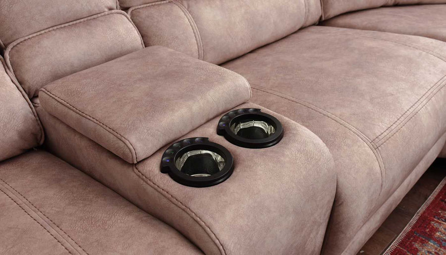 Picture of Kennedy II Brown Power Sectional