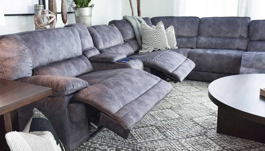 Picture of Kennedy II Grey Power Sectional