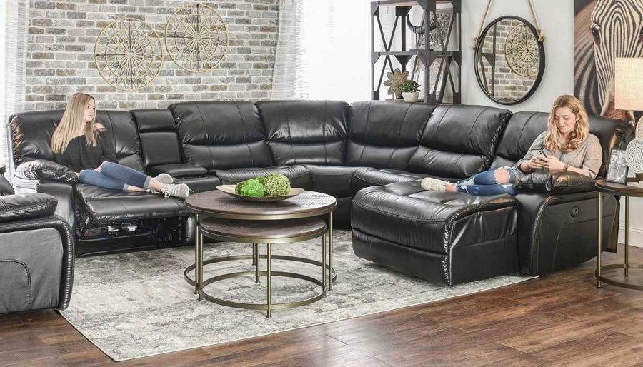 Picture of Avenger Black 6 Piece Sectional