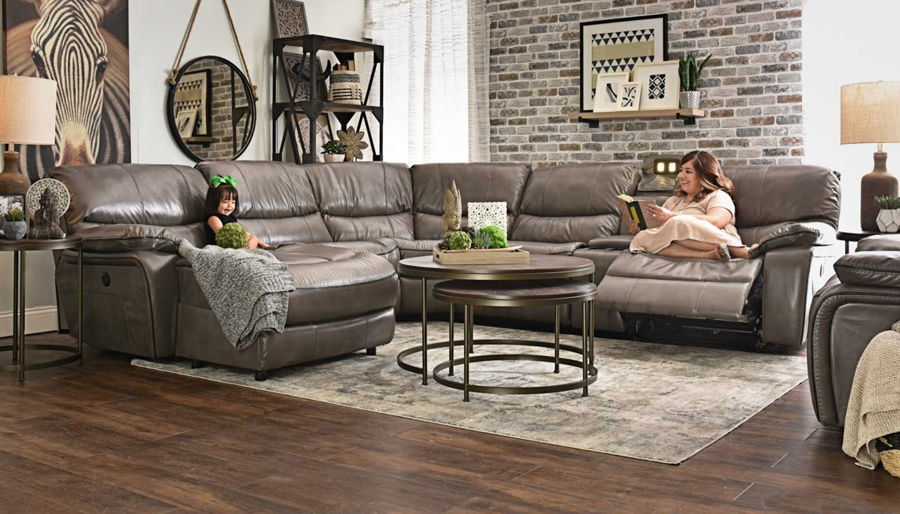 Picture of Avenger Grey 6 Piece Sectional