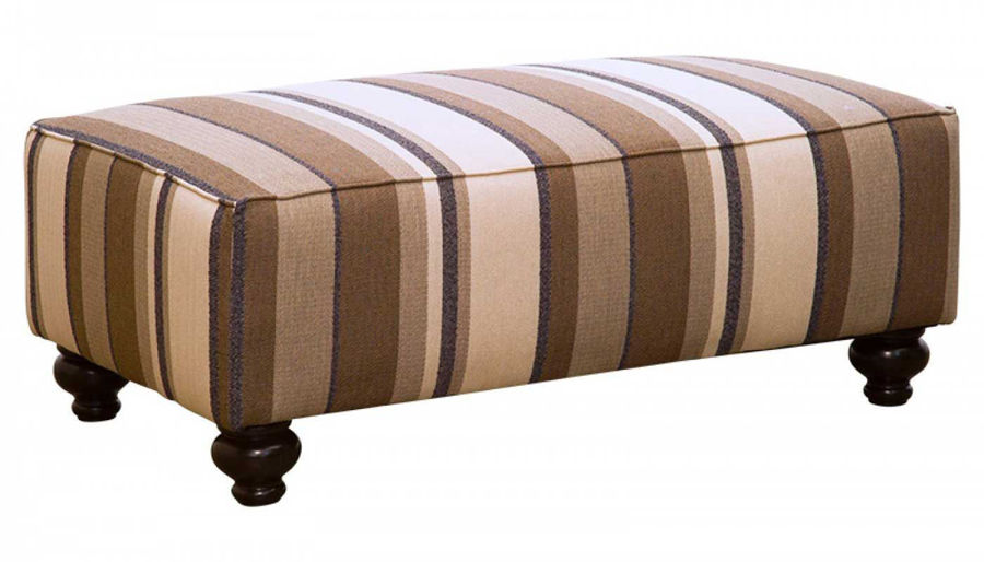 Picture of Trudy Marine Accent Bench Ottoman