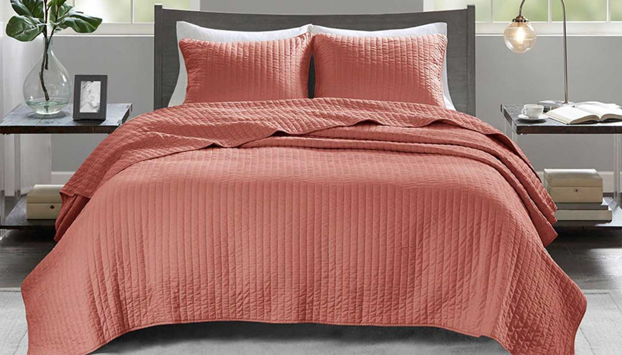 Picture of Keaton Coral Coverlet Set