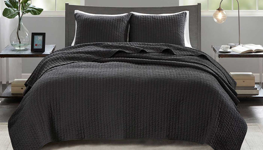 Picture of Keaton Black Coverlet Set