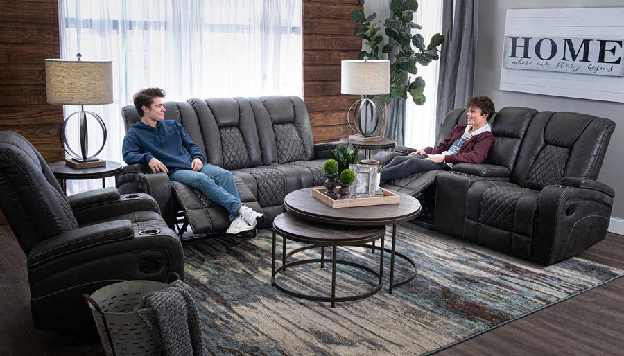 Picture of Grand Cayman Grey Sofa, Loveseat & Recliner