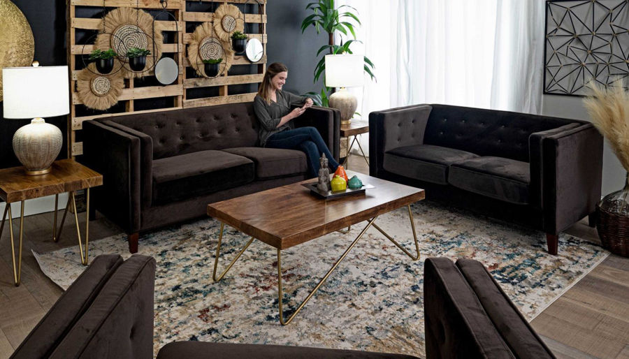 Picture of Dryden II Chocolate Sofa & Loveseat