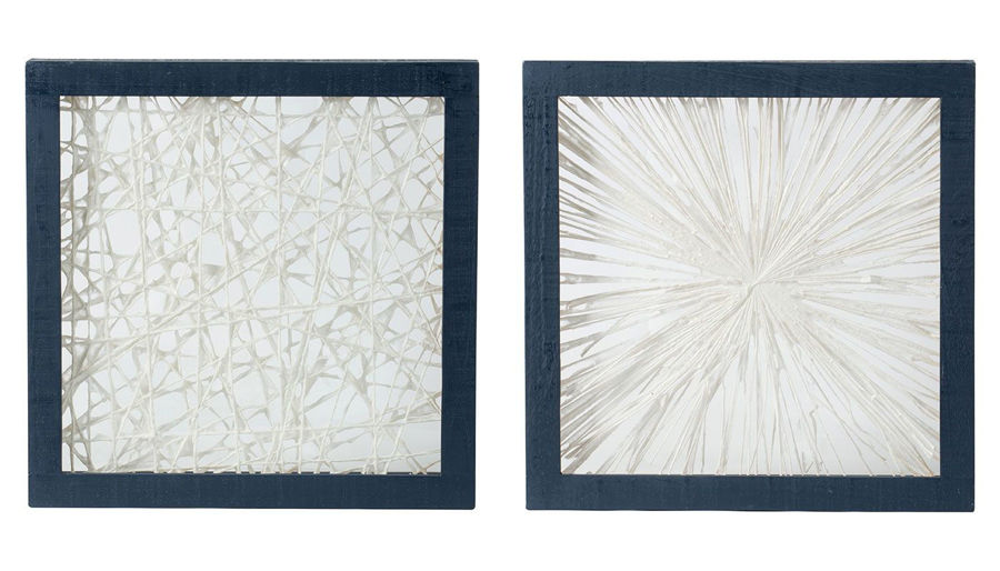 Picture of HZ Ivory & Indigo Wall Decor - Choose 1 of 2 - 44739