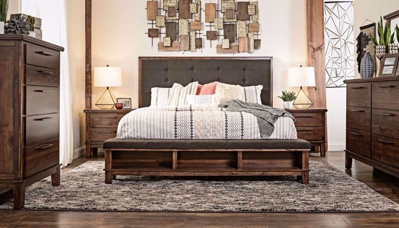 Picture of Latham 3-Piece King Bed, Dresser, Mirror & Nightstand