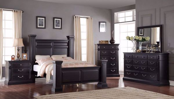 Picture Of Tejas 3 Piece King Bed Dresser Mirror Nightstand