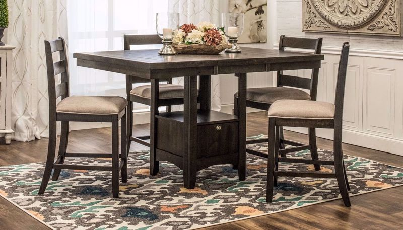 Picture of Tulip Counter Height Table & 4 Stools