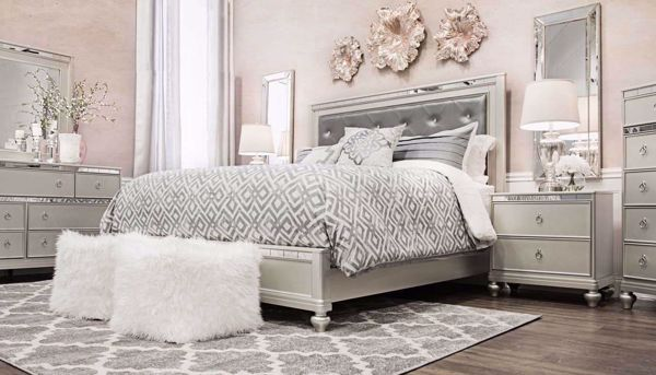 Glam Queen Bed Home Zone Furniture Furniture Stores