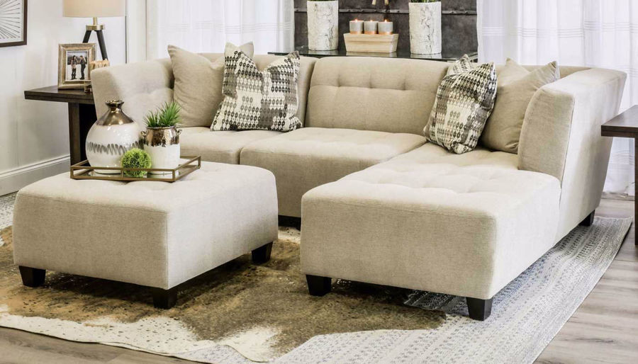 Picture of Cooper Oatmeal 3 Piece Sectional with Right Facing Chaise