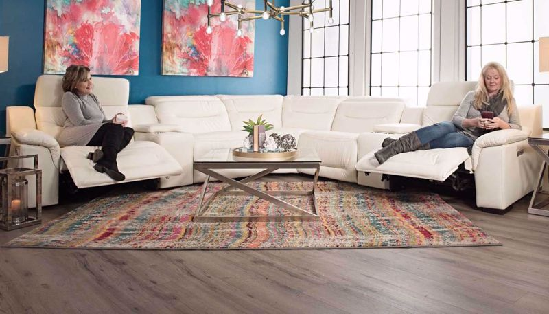 Picture of Milano Power Sectional - White