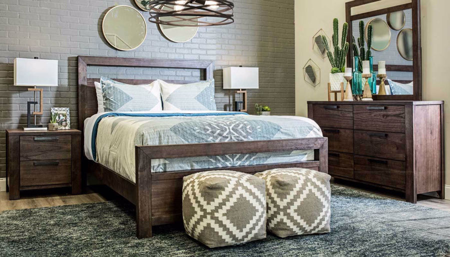 Picture of Bradley Queen Bed, Dresser, Mirror & Nightstand