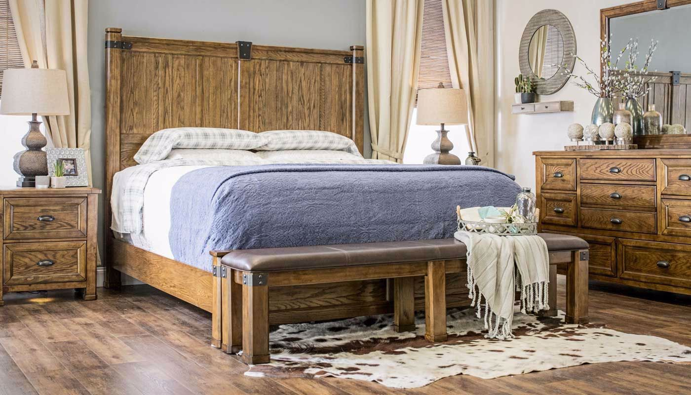 Country Roads 3-Piece Bed, Dresser, Mirror & Nightstand