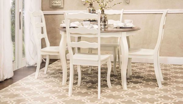 Picture of Daisy Table & 4 White Chairs