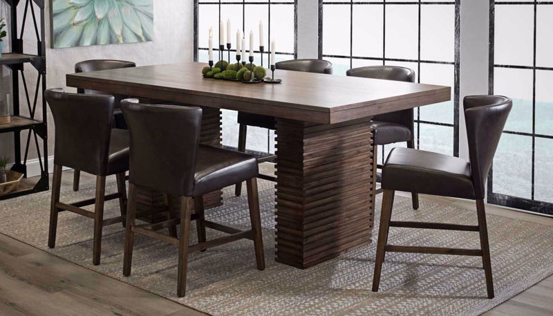 Picture of Napa Table & 4 Brown Counter Height Stools