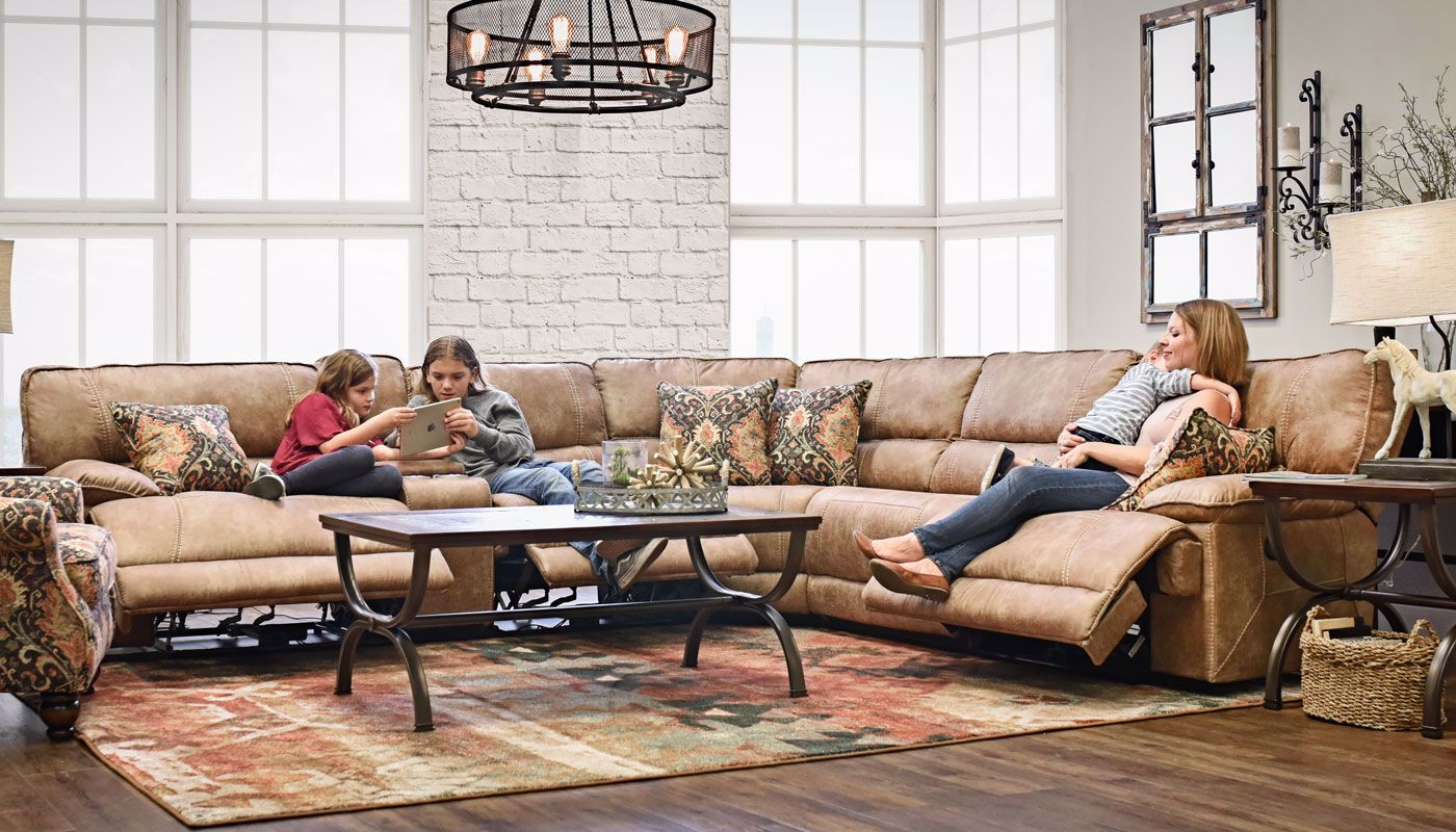 Kennedy Brown Sectional Home Zone Furniture Living