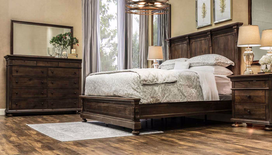 Picture of Ava 3-Piece Bed, Dresser, Mirror & Nightstand