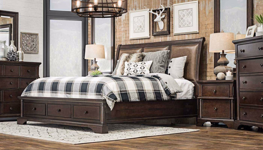 Picture of Caira 3-Piece Bed, Dresser, Mirror & Nightstand