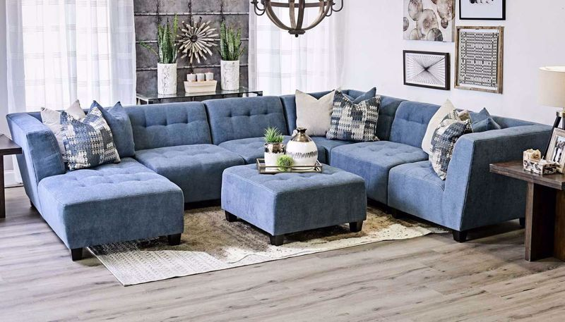 Picture of Cooper Navy 6 Piece Sectional