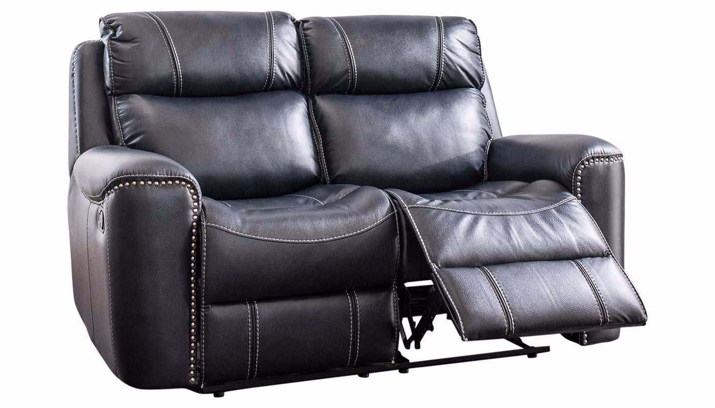 Da Vinci Blue Reclining Loveseat Home Zone Furniture