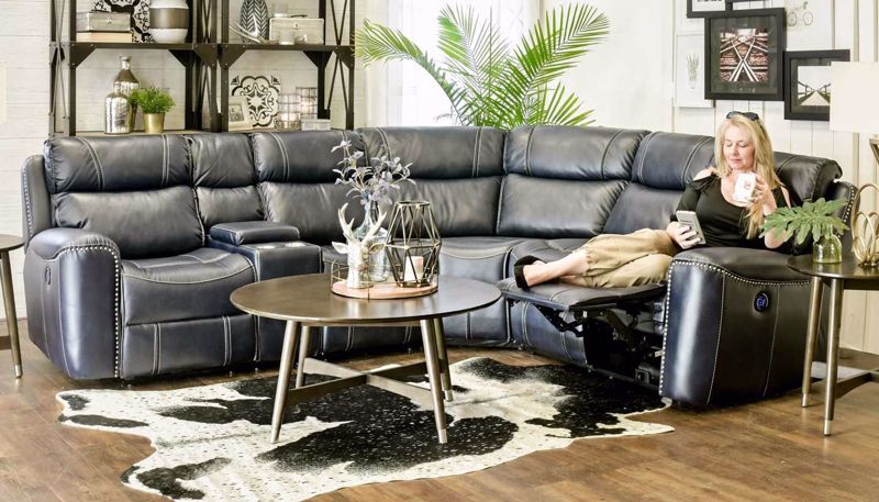 Picture of Da Vinci Blue Sectional