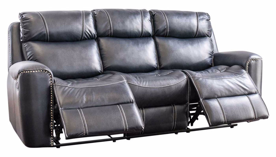 Picture of Da Vinci Blue Reclining Sofa