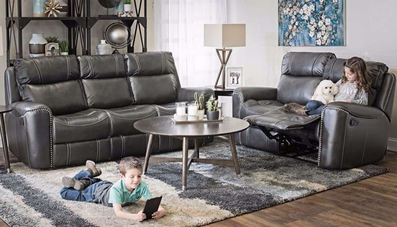 Picture of Da Vinci Grey Sofa & Loveseat