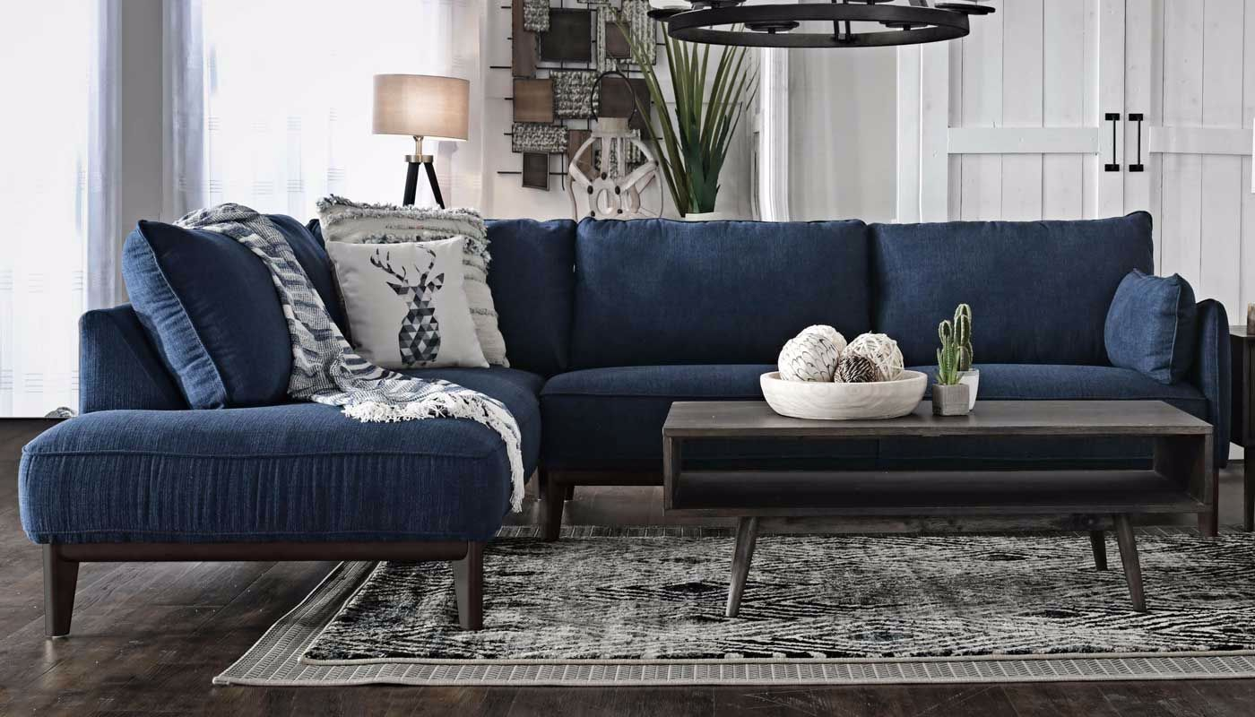Galloway sofa with chaise home zone furniture living - Apartment sofa with chaise ...