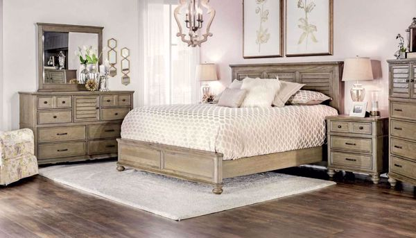 Picture of Sanito 3-Piece Bed, Dresser, Mirror & Nightstand