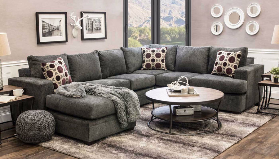 Picture of Sullivan Flannel Sectional