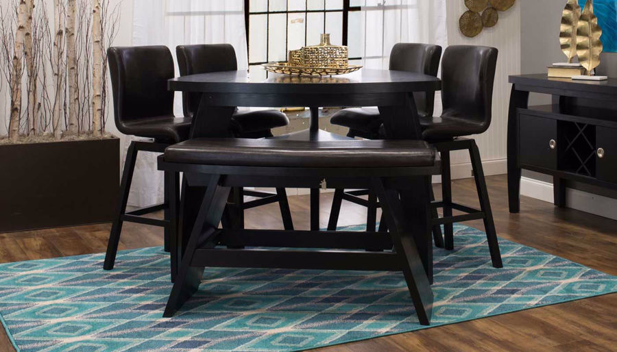 Picture of Triangle Counter Height Table & Barstools