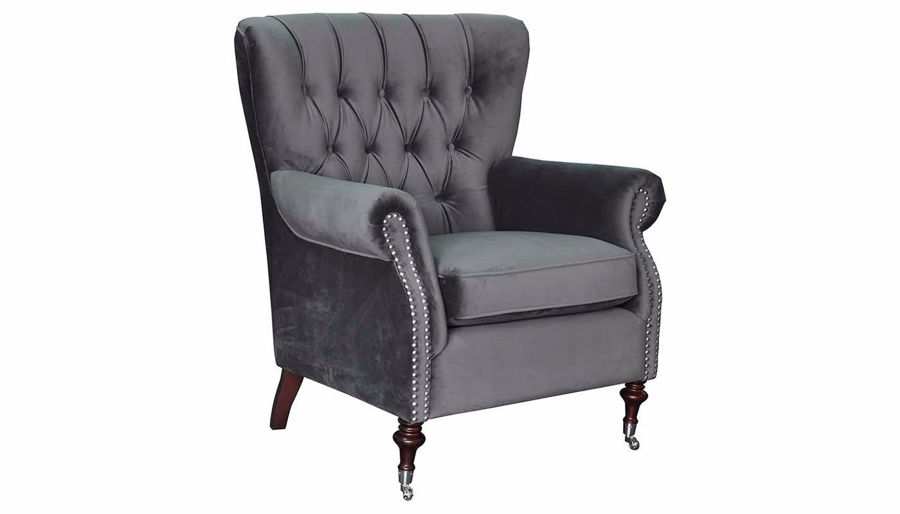 Picture of Alexandria Gunmetal Accent Chair