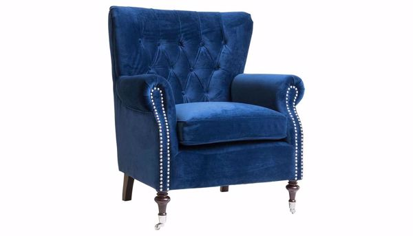 Awe Inspiring Alexandria Royal Blue Accent Chair Pdpeps Interior Chair Design Pdpepsorg