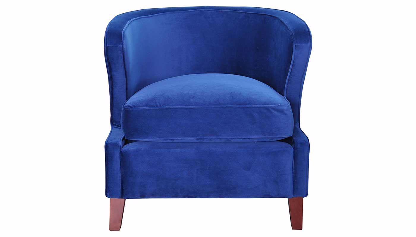 Babylon Royal Blue Accent Chair Home Zone Furniture