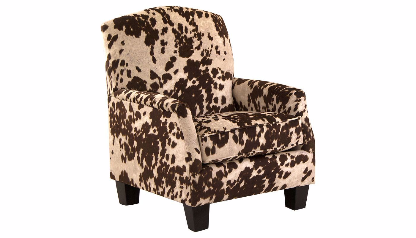 . Cowhide Accent Chair