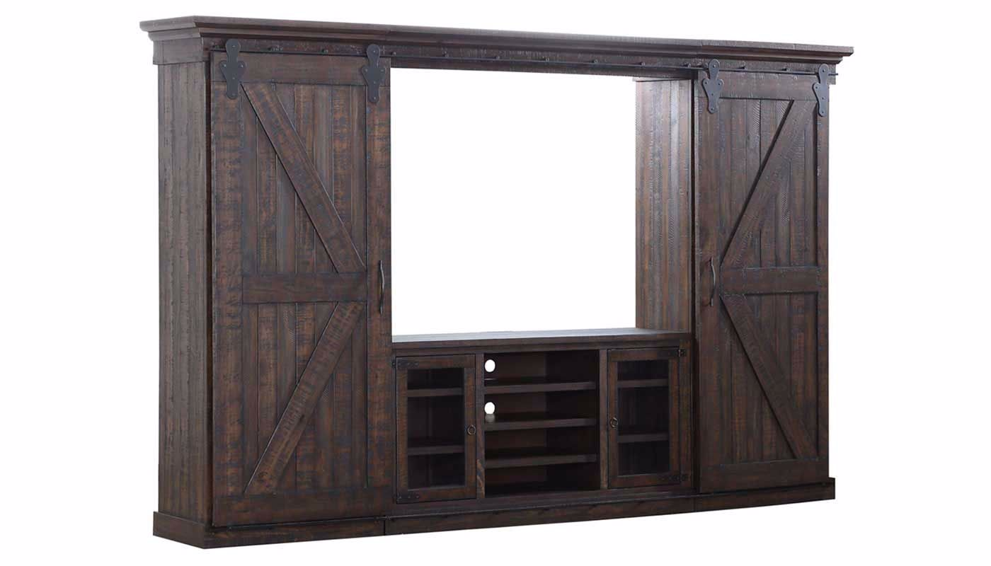 Chrissy Chocolate Wall Unit - Home Zone Furniture | Entertainment ...