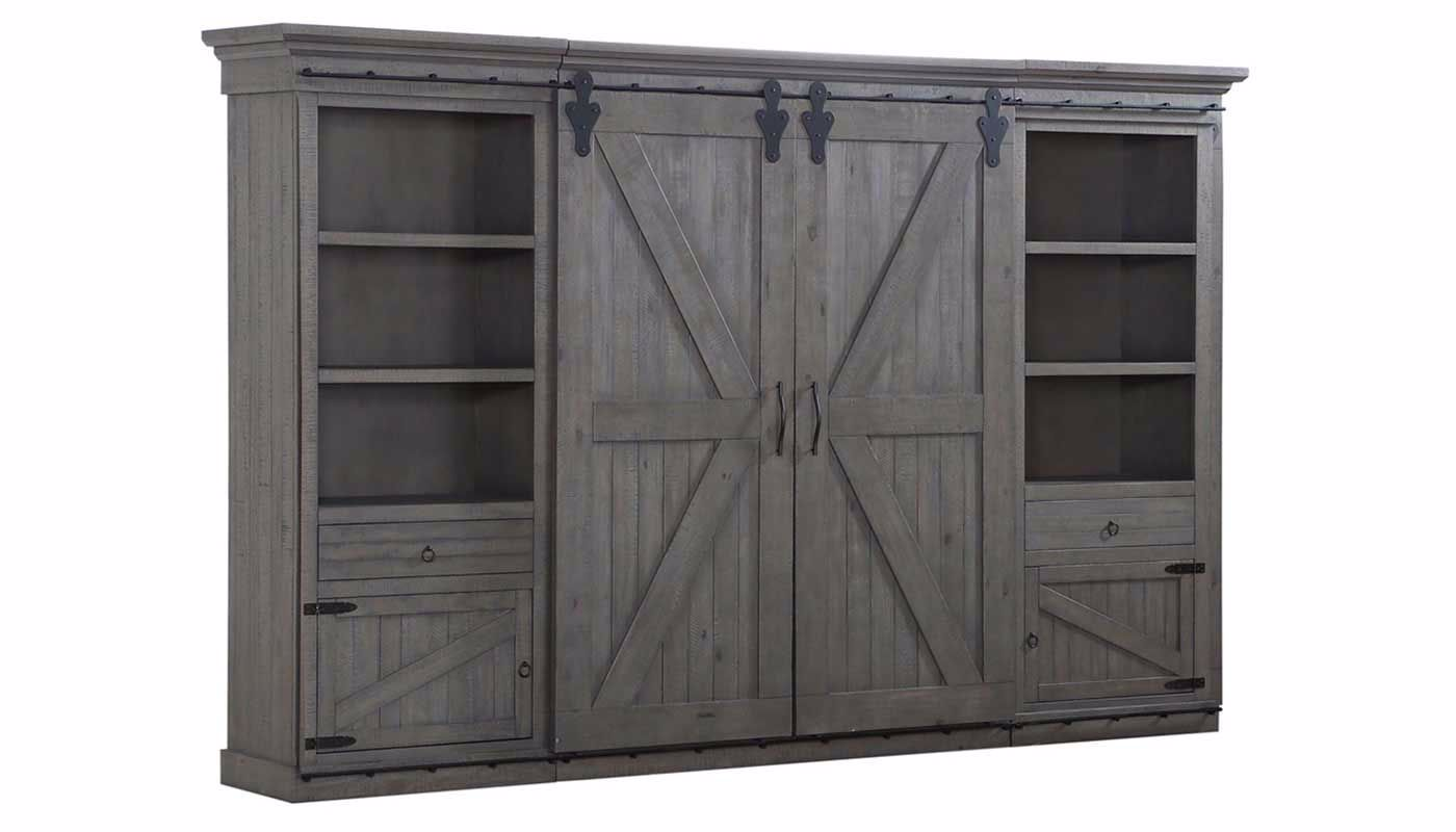 Chrissy Grey Wall Unit Home Zone Furniture