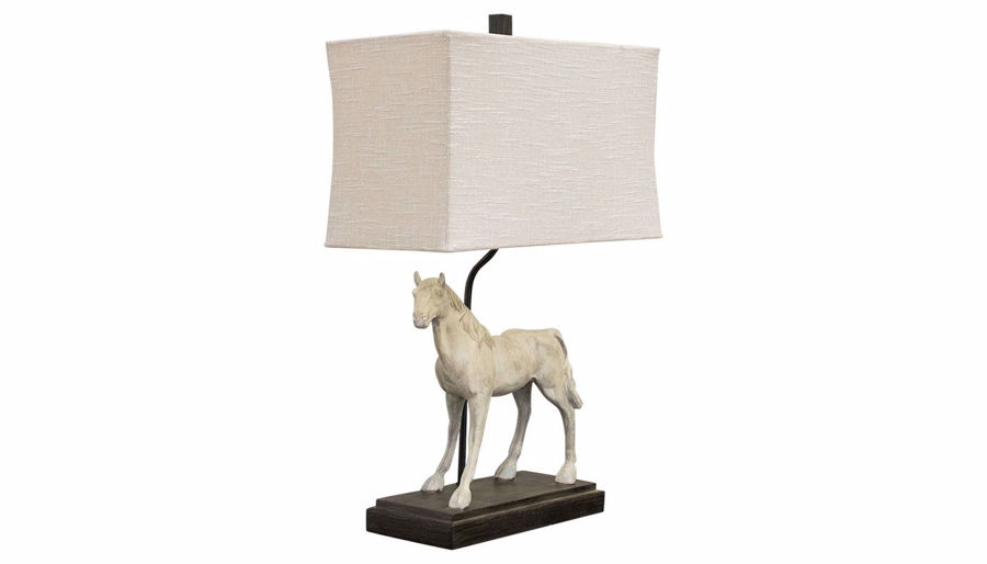 Picture of Gray Horse Table Lamp Set of 2