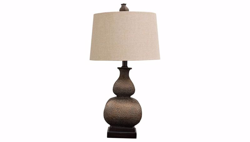 Picture of Hammered Bronze Table Lamp Set of 2