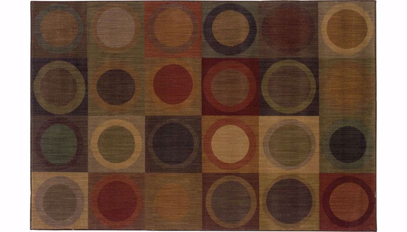 Picture of Allure Circles 6 x 9 Rug