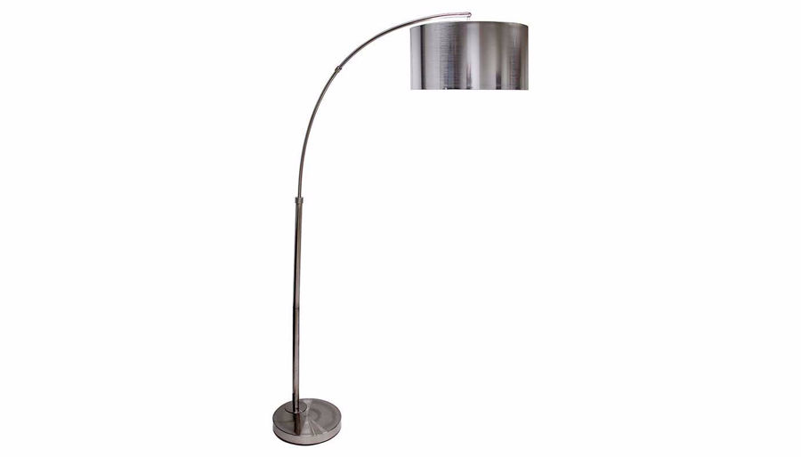 Picture of Brushed Steel Arc Floor Lamp