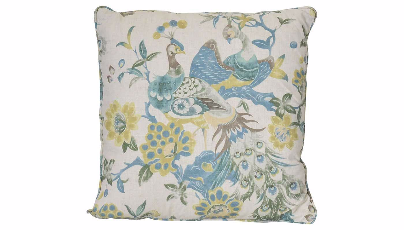 Lola Peacock Accent Pillow Home Zone Furniture Bedding