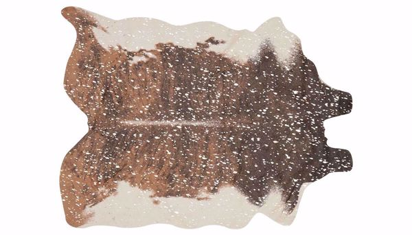 "Picture of Brown Cowhide 6'2"" X 8' Rug"