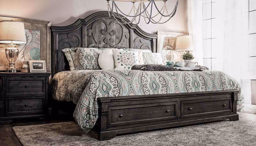 Picture of Amalfi 3-Piece King Bed, Dresser, Mirror & Nightstand
